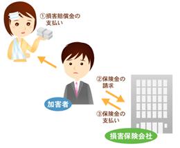 自賠責保険の加害者請求イメージ図